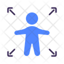 Safe Standing Keep Distance Icon