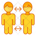 Social Distancing Quarantine Covid 19 Icon