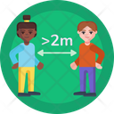 Social Distancing Social Distance Infection Icon