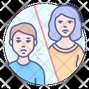Button Social Distancing Preventive Measure Contact Coronavirus Icon