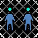 Social Distancing Coronavirus Covid 19 Icon