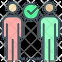 Social Distancing Check Mark Distance Icon