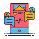Social Engagement Chat Communication Icon