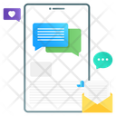 Mobile Message Social Engagement Mobile App Icon