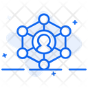 Social Interaction User Network User Connections Icon