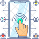Social Interaction Finger Tap Interactivity Icon