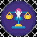 Social Justice Judges Jury Icon