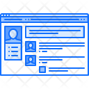 Social Network Website Icon