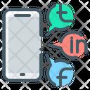 Social Media Mobile Phone Icon
