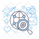 Button Social Media Communication Icon