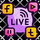 Live Streaming Social Media Share Icon