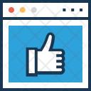Social Media Thumbs Icon
