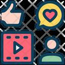 Social Media Account Feedback Icon