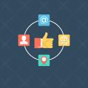 Social Media Networking Icon