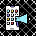 Advertise Loudspeaker Social Icon