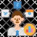 Social Media Analysis Icon