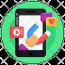 Inbound Marketing Social Media Attraction Media Acquisition Icon