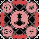 Social Media Campaign Marketing Triangle Icon