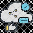 Social Media Cloud Cloud Computing Icon