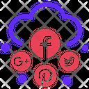 Social Media Cloud Seo Plan Icon