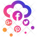 Social Media Cloud Business Businessman Icon