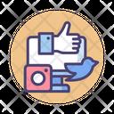 Social Media Collaboration Social Network Connection Icon