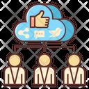 Social Media Collaboration Icon