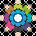 Social Media Collaboration Collaboration Connection Icon