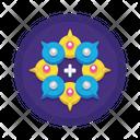 Msocial Media Collaboration Icon
