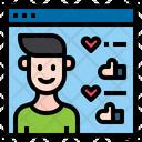 Website Influencer Man Icon