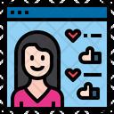 Website Influencer Female Icon