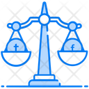 Social Media Law Law Scale Balance Scale Icon