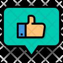 Social Media Like Thumb Up Rating Icon
