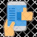 Social Media Like Feedback Smartphone Icon