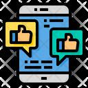 Social Media Likes Thumbs Up Like Icon