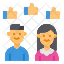 Social Media Likes Like Hands Icon