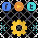 Social media management Icon