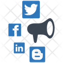 Social Media Marketing Ability Management Icon