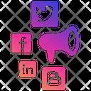 Social Media Marketing Facebook Twitter Icon