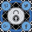 Social Media Security Startup Statistics Icon