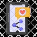 Media Share Social Media Share Mobile Share Icon