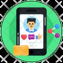 Media Share Social Media Share Online Account Icon