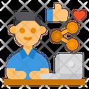 Social Media Share Social Media User Share Icon