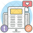 Social Media Stories Social Content Online Journal Icon