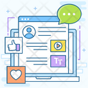 Social Media Chat Sharing Social Network Icon