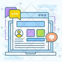 Social Media Website Icon