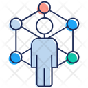 Community Manager Connected Users Networking Icon