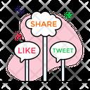 Social Media Social Network Feedback Icon