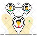 Social Network Social Connection Interrelationship Icon