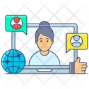Social Network Online Communication Online Chat Icon
